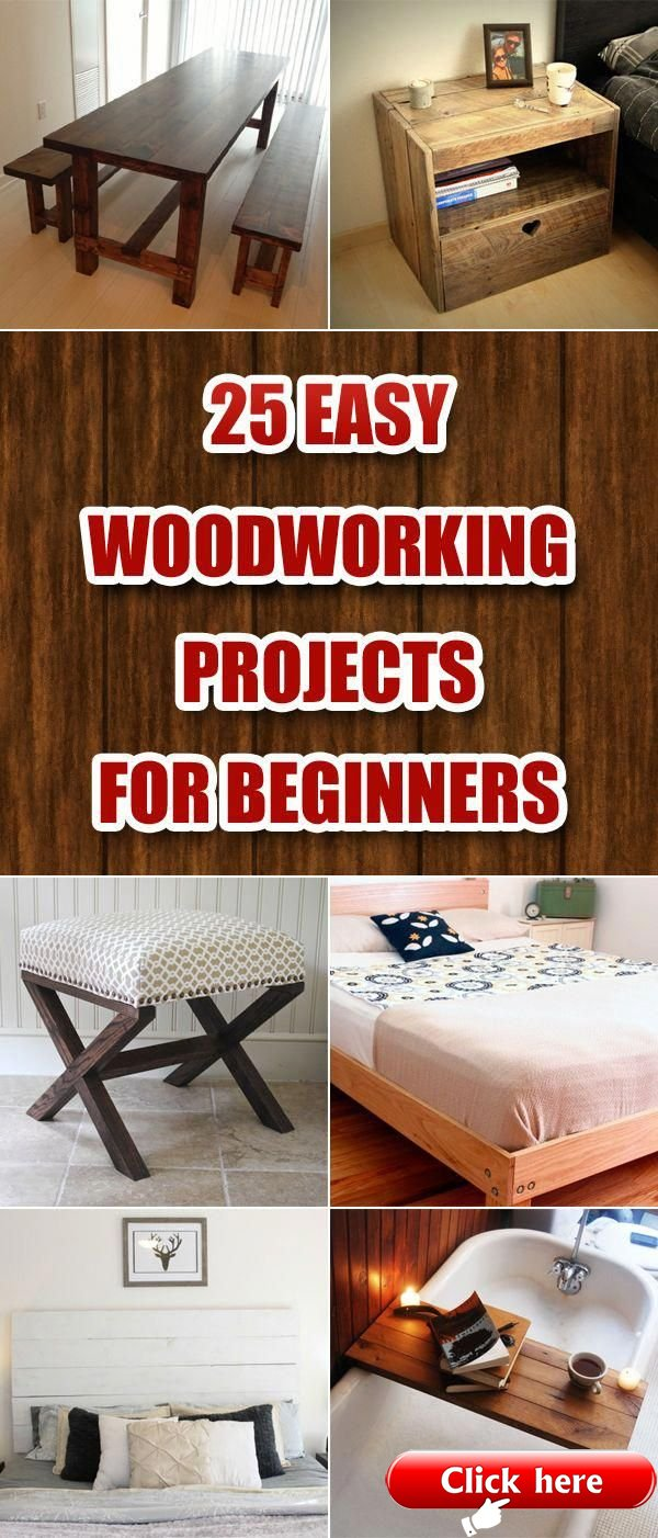 25 Easy Woodworking Projects For Beginners