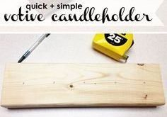 DIY: A Quick and Quirky Candleholder