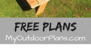 Free plans for building a 6 foot picnic table. This table features benches on bo...