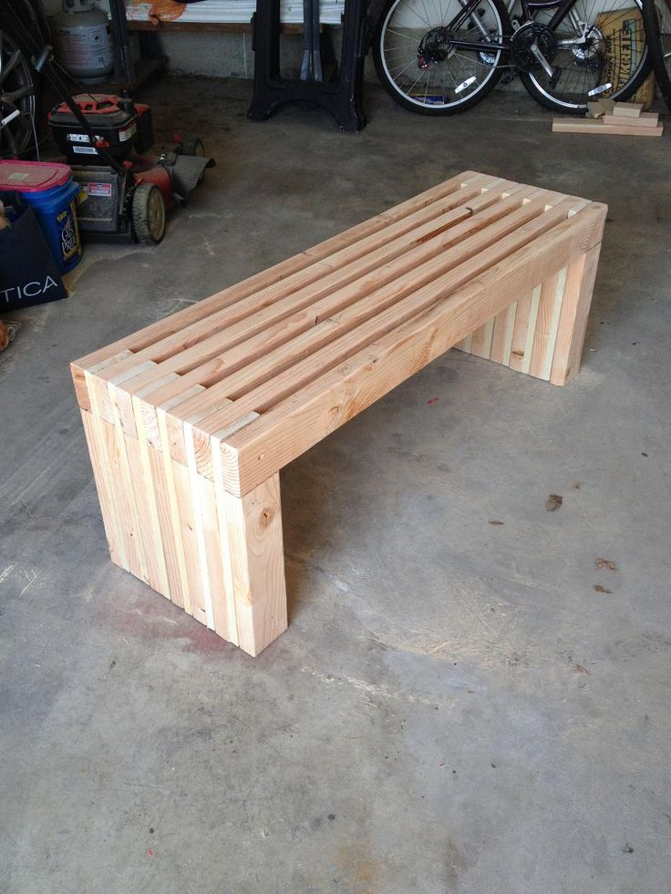 Simple Bench Plans Outdoor Furniture Diy 2x4 Lumber Patio