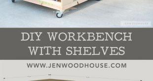 Wie man eine DIY Mobile Workbench mit Regalen baut