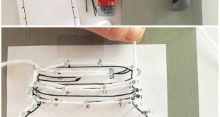 Mason Jar String-Kunst mit einer druckbaren Vorlage, um es einfach zu machen