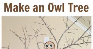 Owl Craft - Wie man entzückende Holzscheiben-Eulenverzierungen macht. Lieben Si...