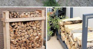 9 Super Easy DIY Outdoor Brennholzgestelle - #Brennholzgestelle #diy #Easy #idee...