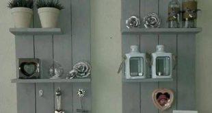 Diese Hängeböden sind auch kleine Multitanker !! Schlüsselhalter, Kleiderbügel & … #WoodWorking