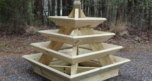 Downloadable Woodworking Plans - Pyramid Planter - Illustrated with Photos