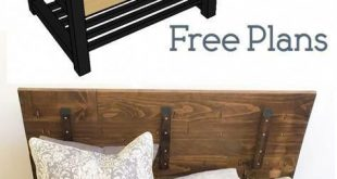 Entry Way Storage Bench - Woodworking Plans - Home #WoodworkingDesign #easywoodw...