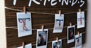 Freunde Fernsehshow Holz Polaroid Zeichen