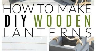 Inside: Brighten up your Decor with DIY Wooden Lanterns in just a few easy steps… #WoodWorking