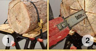 Lampe aus Holzstamm und Epoxidharz: Gratis DIY-Anleitung