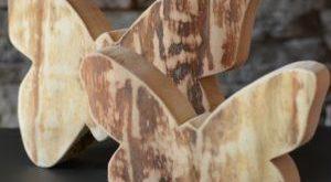 Schmetterling-rustikal, Gr. 1, 20 cm, Holzdeko
